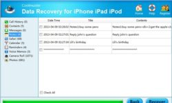 Recover your iPhone Data using Coolmuster Data Recovery