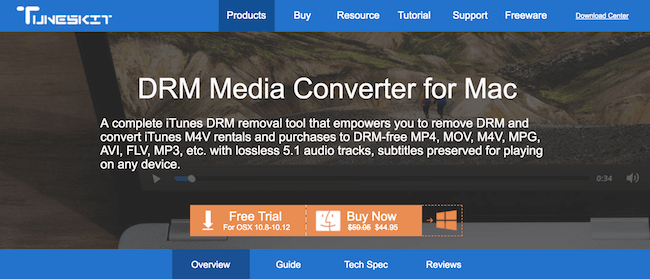 The Tuneskit DRM Media Converter For Mac • TecheHow